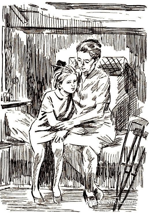 Боровский Давид Борисович (1926-2004) иллюстрация к книге Юрия Ермолаева «Дом отважных трусишек»