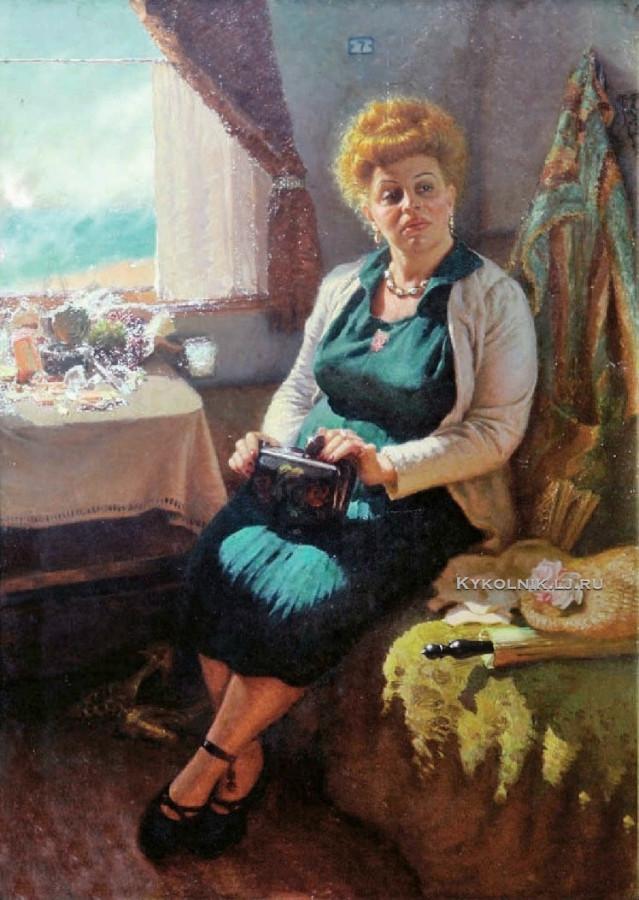 Волков Юрий Васильевич (1921-1991) «На курорт» 1960