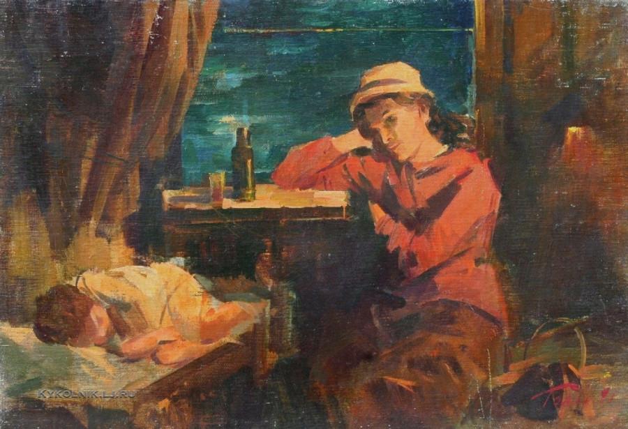 Гольд Гернадий (Герман) Моисеевич (Украина, 1933) «В поезде» 1981