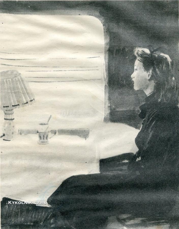 Дубинский Давид Александрович (1920-1960) иллюстрация к рассказу И.Ильфа и Е.Петрова «Тоня»  1959