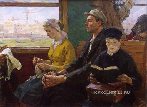 Кипарисов Петр Гаврилович (1928-1987) «Строители»