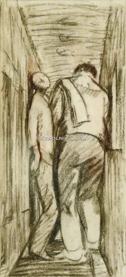 Сойфертис Леонид Владимирович (1911-1996) «В коридоре вагона» 1984