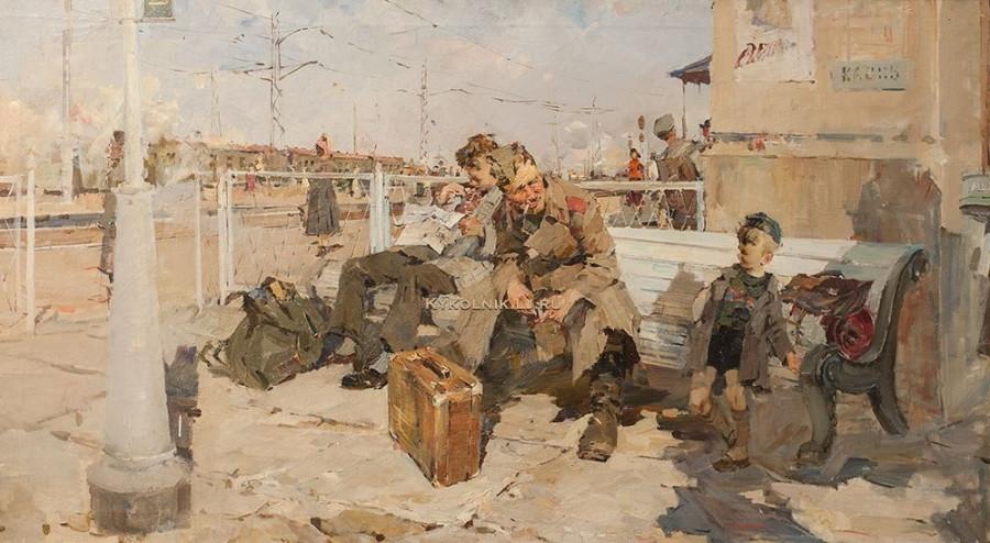 Заозерский Борис Константинович (1934-2002) «На вокзале» 1959