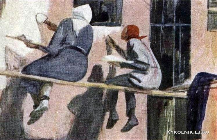 Горяев Виталий Николаевич (1910-1982) «Ученицы»