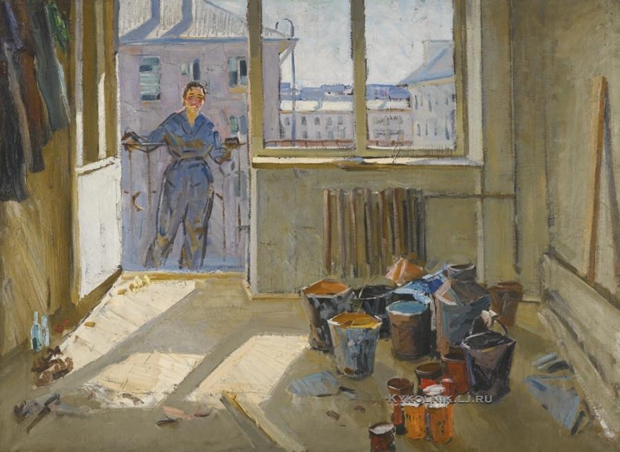 Данциг Май Вольфович (Белоруссия, 1930) «Девушка на балконе»