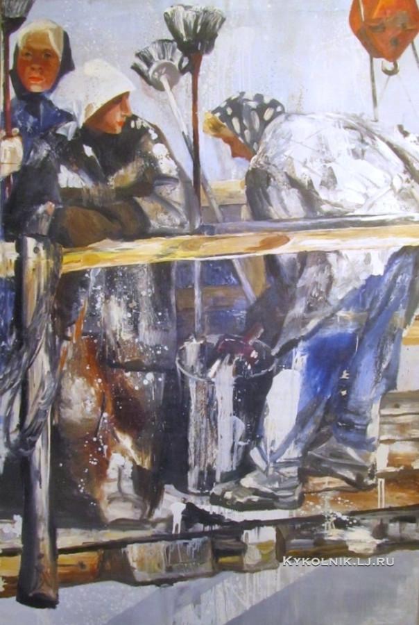 Якерсон Иосиф Шаломович (Россия-Изриаль, 1936) «Ленинградская весна» 1965