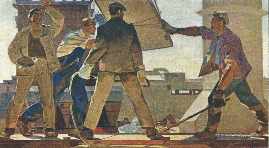 Абдурахманов Надир Гамбарович (Азербайджан, 1925) «Строительство Али-Байрамлинской ГРЭС» 1961
