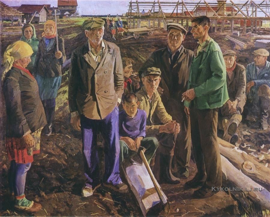Карачарсков Николай Прокофьевич (Россия, 1936) «Бригадир плотников Алексей Федорович» 1979