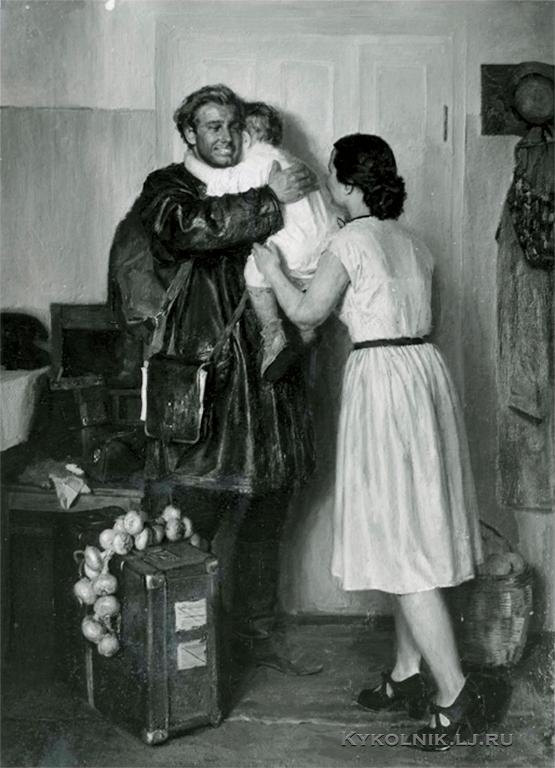 Коржев-Чувелев Гелий Михайлович (1925-2012) «Вернулся со стройки» 1951