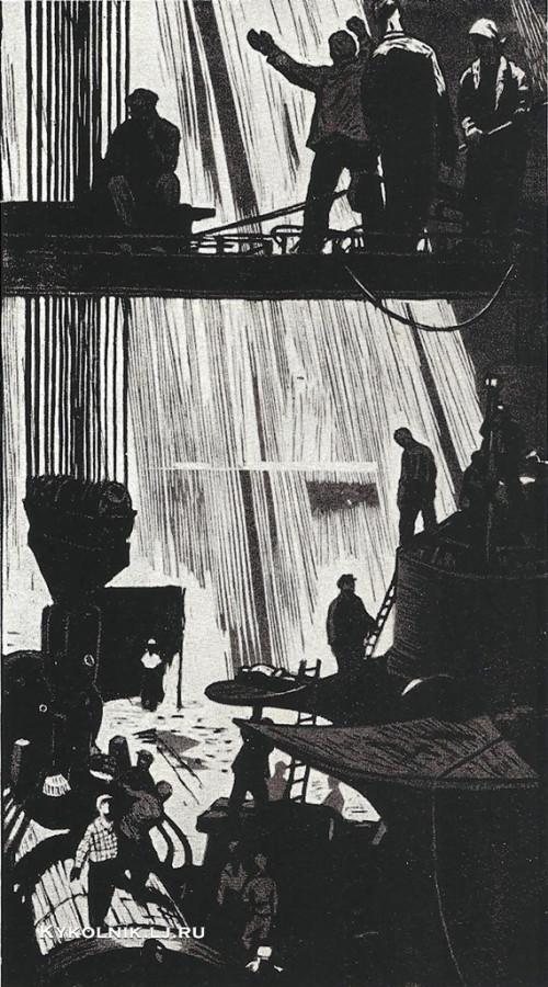 Панфилов Валерий Васильевич  (Россия, 1927) «На монтажной площадке» 1961