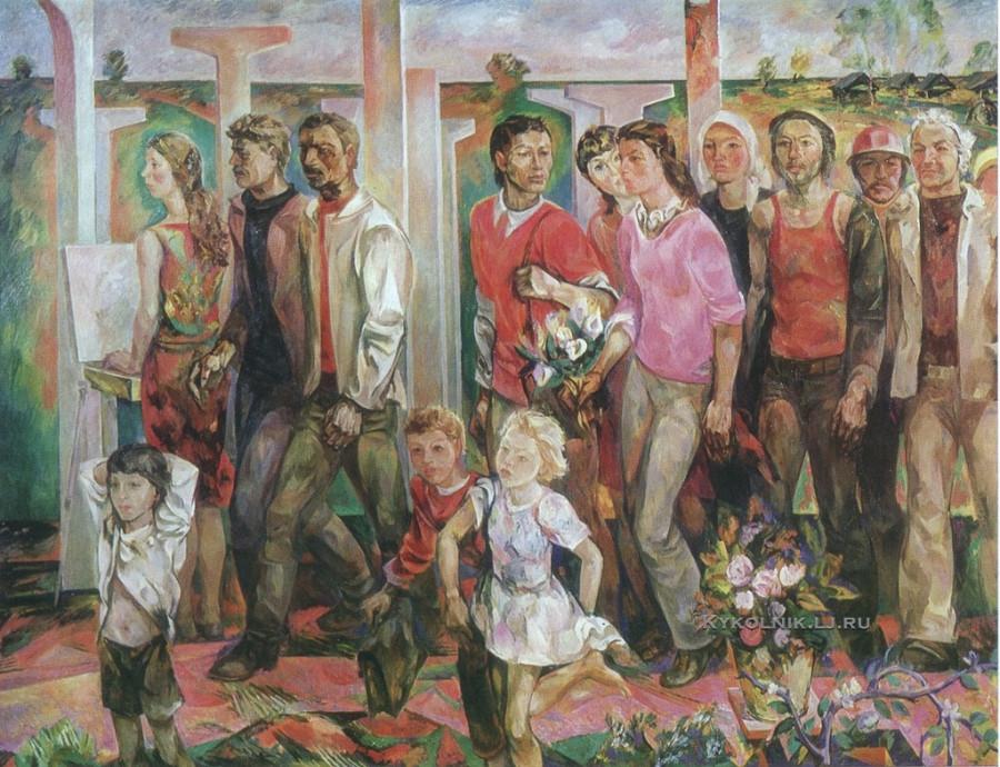 Федоров Ревель Федорович (Россия, 1929) «Ритмы стройки» 1979