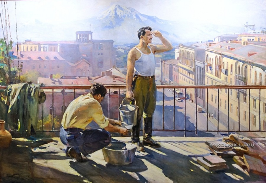 Налбандян Дмитрий Аркадьевич (1906-1993) «Ереван строится»