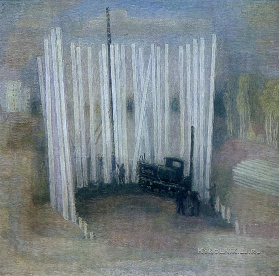 Орлов Игорь Михайлович (Россия, 1935) «Нулевой цикл. Нижневартовск строится» 1977