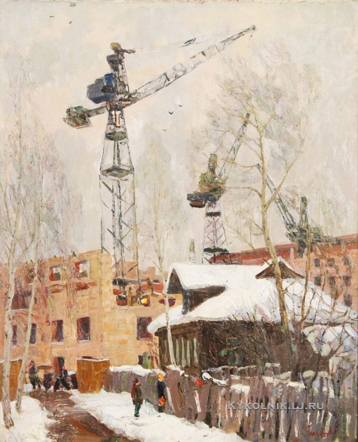 Тихомиров Леонид Петрович (Россия, 1925) «Окраина Москвы» 1952
