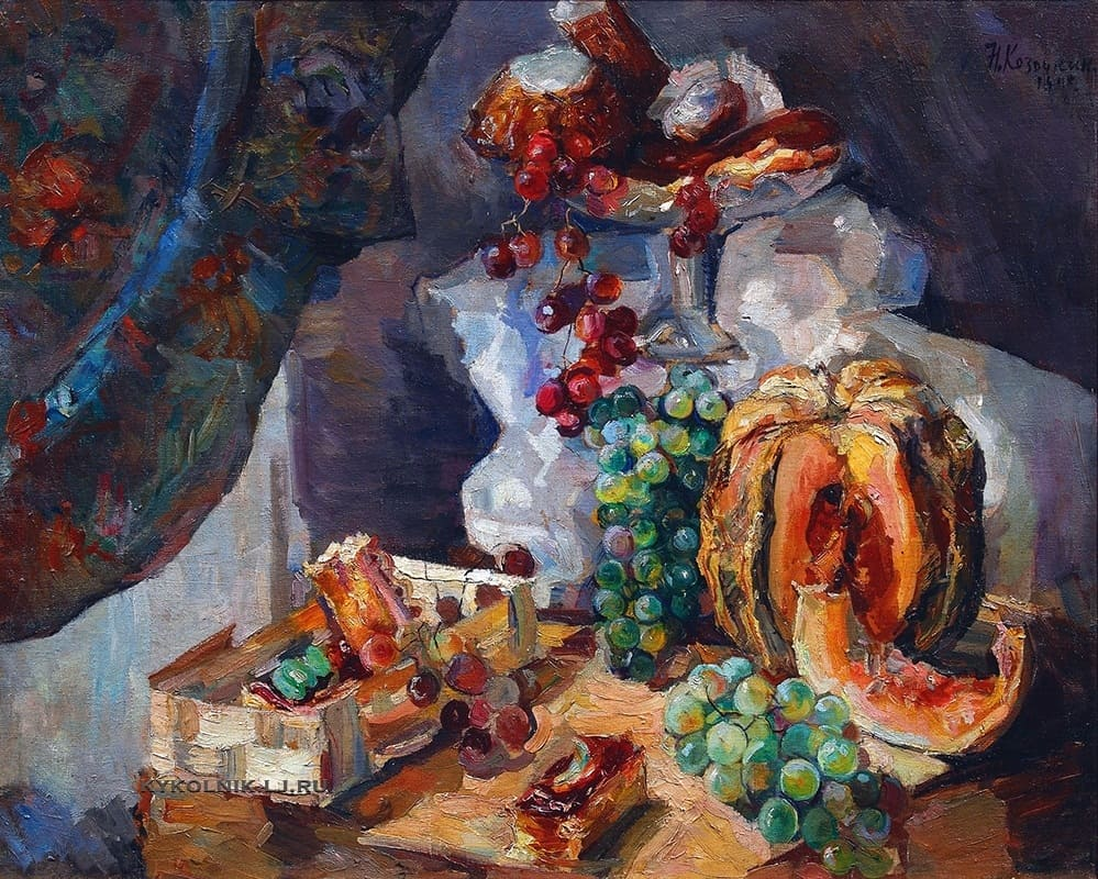 9 №13.931 Козочкин Николай Сергеевич (1899–1961) «Натюрморт с фруктами и сладостями» 1948.jpg