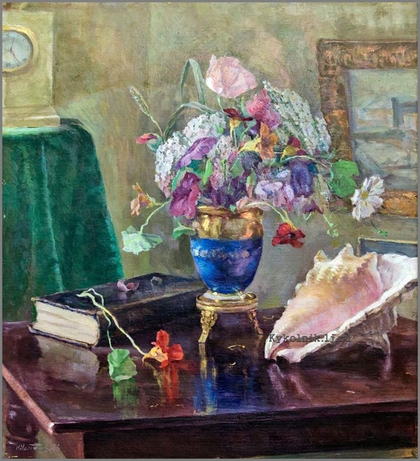 Урядов Иван Иванович (1893-1962) «Натюрморт. Цветы» 1946