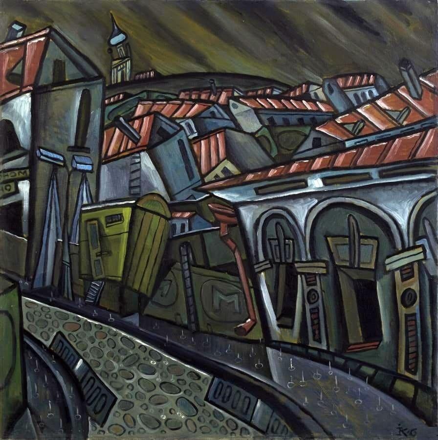 Игнатов Константин-Вадим Николаевич (1934–2016) «Дождь» 1968