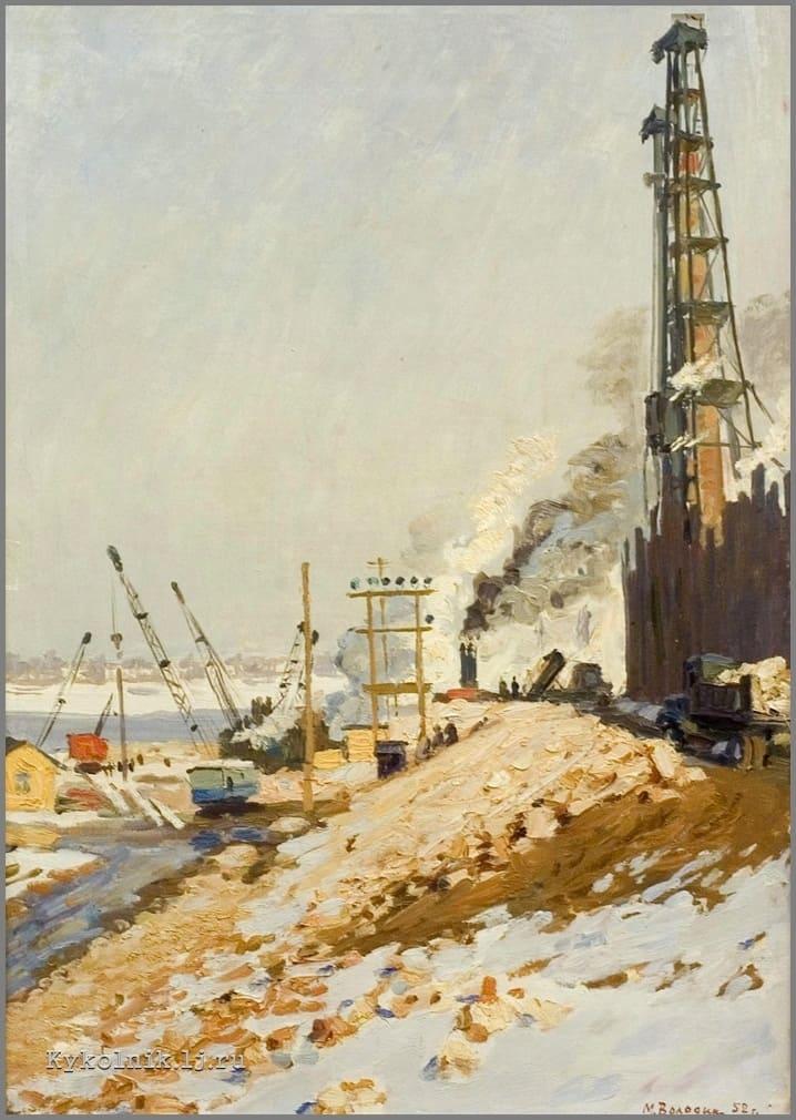 Володин Михаил Филиппович (1912-1987) «Горячие дни. Перед паводком» 1952