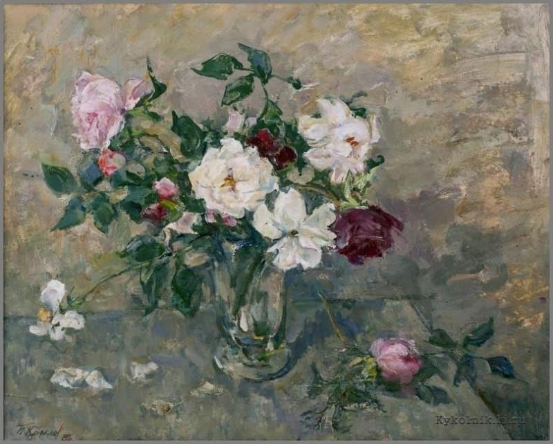 Крылов Порфирий Никитич (1902-1990) «Цветы» 1982