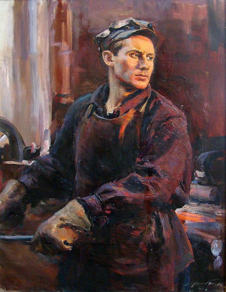 Налбандян Дмитрий Аркадьевич (1906-1993) «Портрет Валерия Андреева, знатного рабочего завода им. И.А. Лихачева» 1966