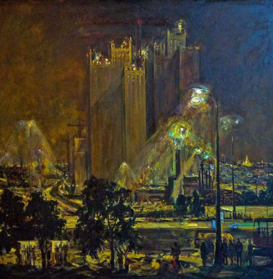 Горелкова Татьяна Васильевна (1948) «Огни большого города» 1985