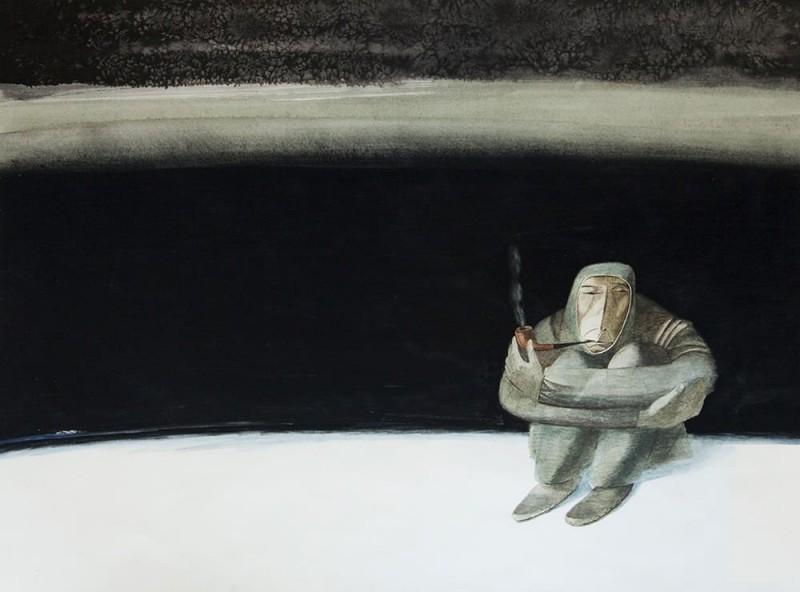 Старостин Михаил Гаврильевич (1959) «Безмолвие» 1991