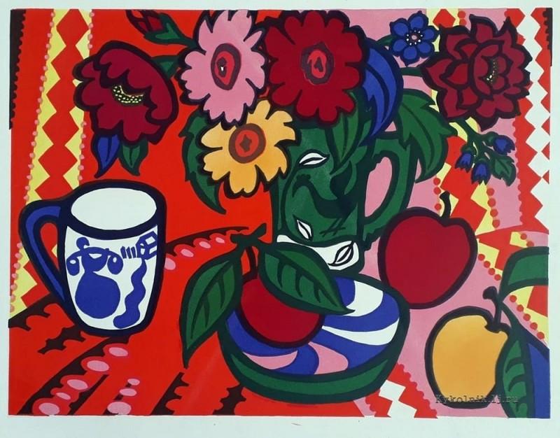 Воловик Таисия Ефимовна (1914-2018) «Декоративный натюрморт» 1976