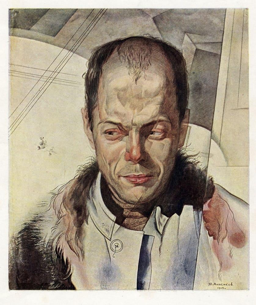 Анненков Юрий Павлович (1889–1974) «Портрет Виктора Шкловского» 1919