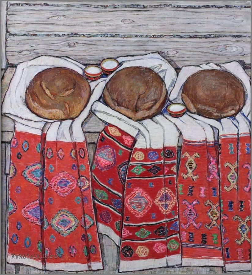 Ситдикова Адия Хабибулловна (1913-2000) «Хлеба» 1975                                                                                                                        А ведь мы стали забывать значимость хлеба...