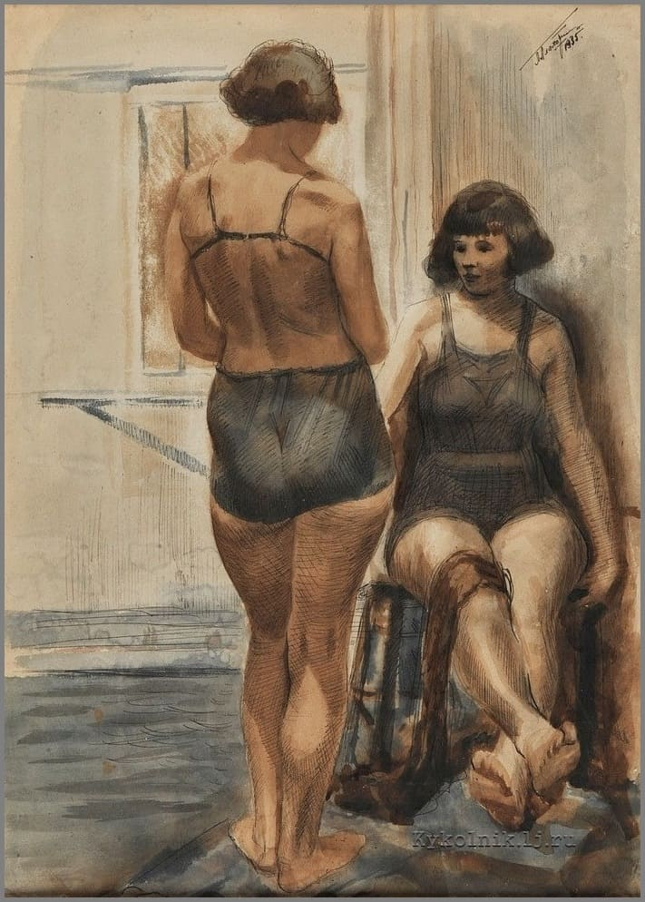 Плахотный Петр Алексеевич (1908-1963) «Пловчихи» 1935