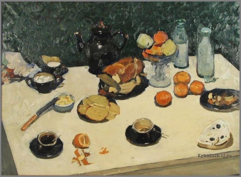 Ниеминен Фолке Эйнович (1931-2010) «Завтрак» 1965