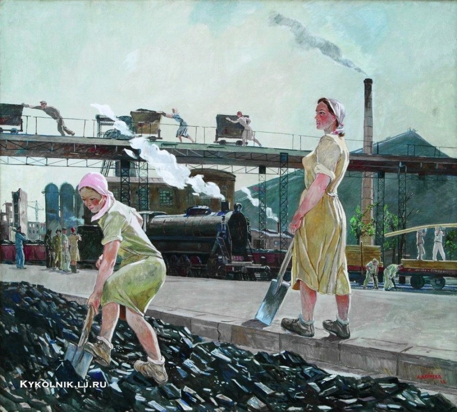 Дейнека Александр Александрович (1890-1960) «Донбасс» 1947