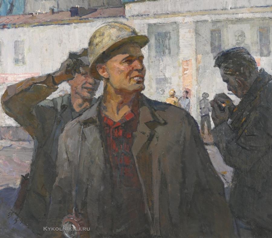 Кочевой Виктор Иванович (1924-2006) «Портрет шахтера» 1959
