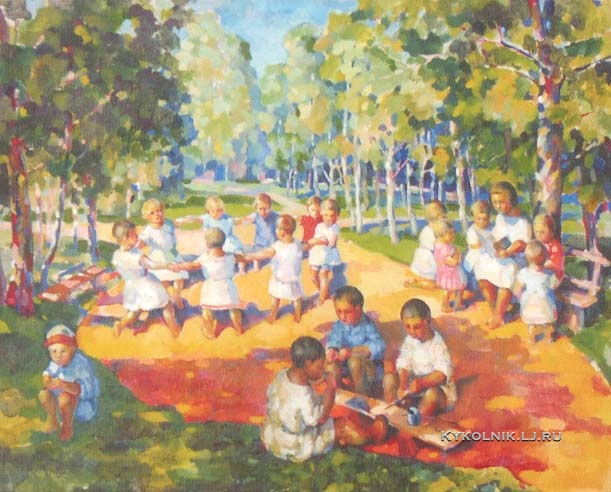 1928 Казаков Александр Васильевич (1899-1964) «Детский сад»