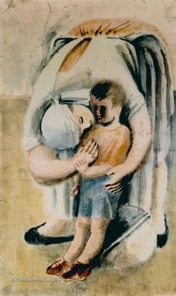 1930 Самохвалов Александр Николаевич (1894-1971) «Утро в яслях»