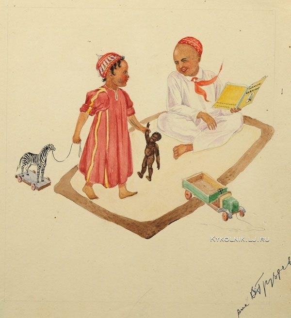 1930-е Груздев Владимир Александрович (1880-1956) «Дети с игрушками»