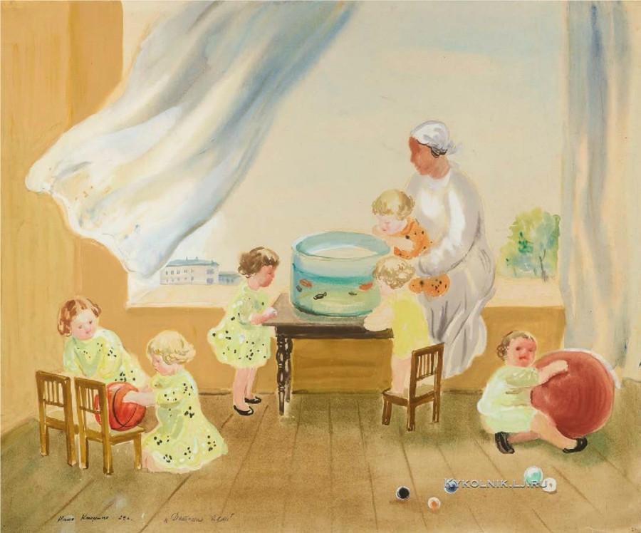 1934 Кашина (Кашина-Памятных) Нина Васильевна (1903-1985) «Детские ясли»