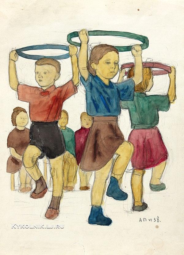 1939 Пахомов Алексей Федорович (1900-1973) «В детском саду»