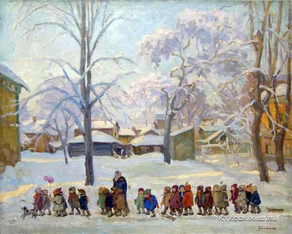 1940 Колупаев Дмитрий Антонович (1883-1954) «На прогулке»