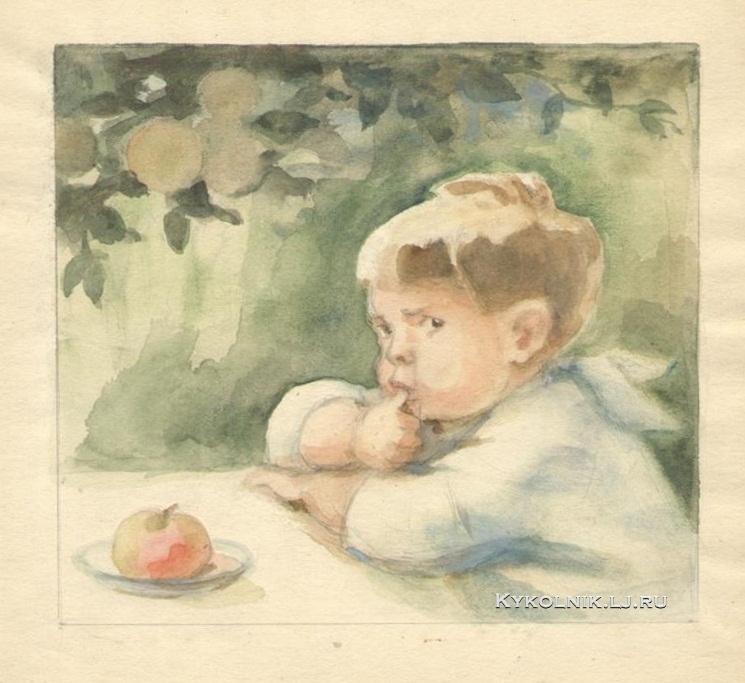 1948 Боровская Анна Казимировна (1901-1984) иллюстрация к книге «Новые ясли»
