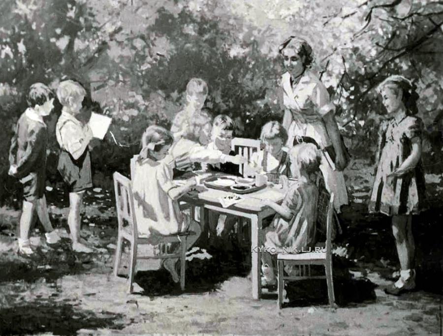 1950 Бромулт Алфей Янович (1913-1991) «Детский сад»  (3)