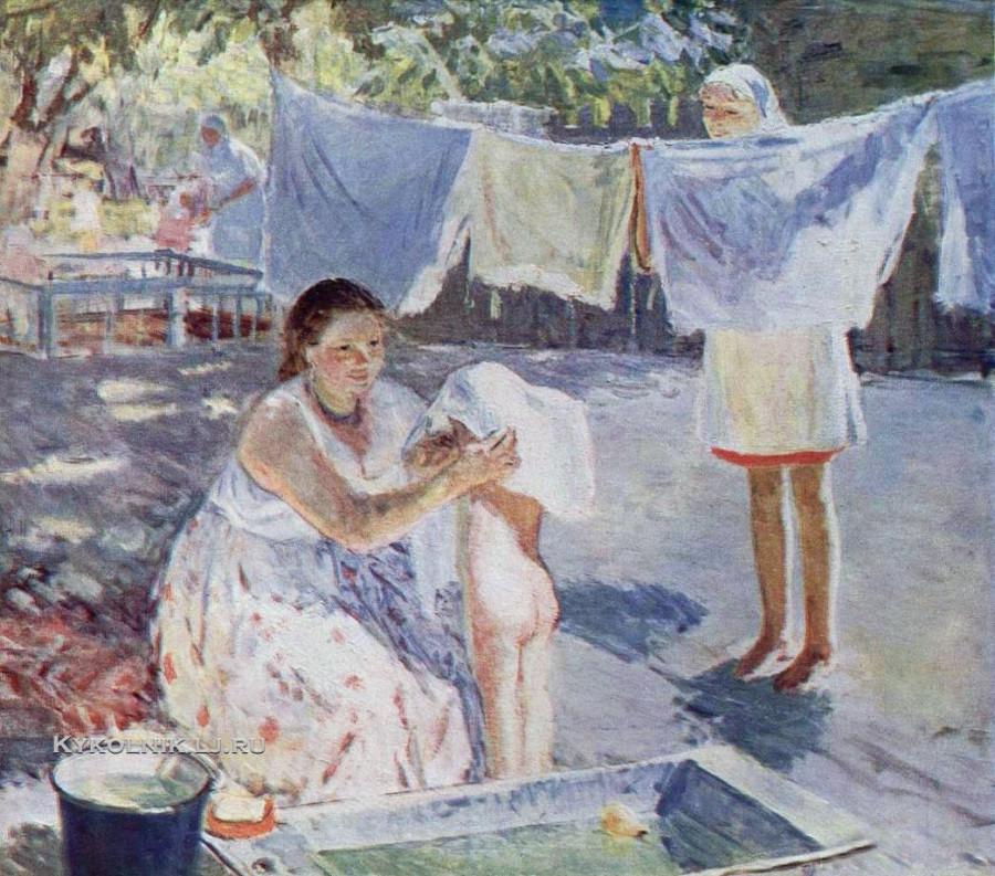 1950-е Савченкова Мария Владимировна  (1917-) «Полдень в яслях»