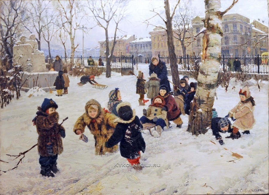 1951 Савостьянов Федор Васильевич (1924-2012) «Детский сад»