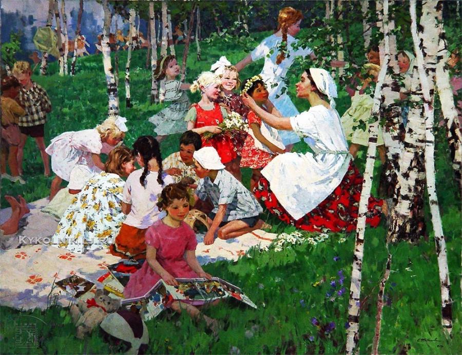1960-е Табакова Елена Ильинична (1919) «Цветы мая»