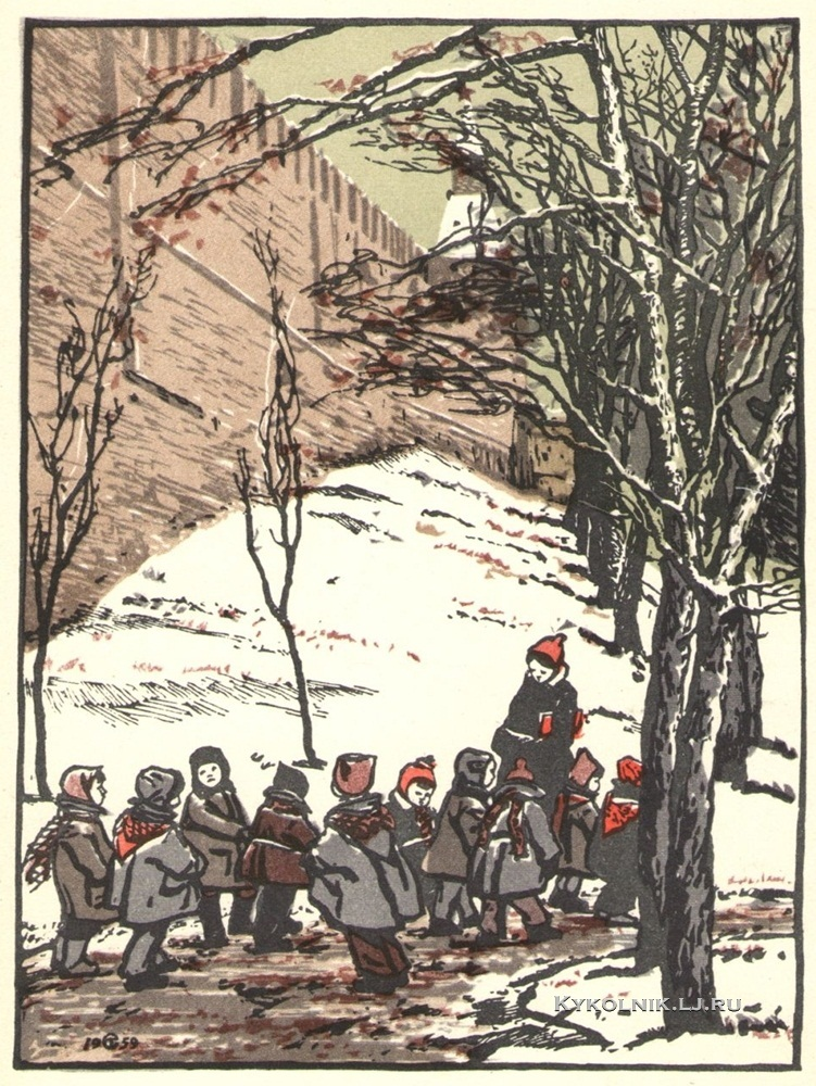 1962 Скородумова Таисия Николаевна (Россия, 1928) «На прогулке»