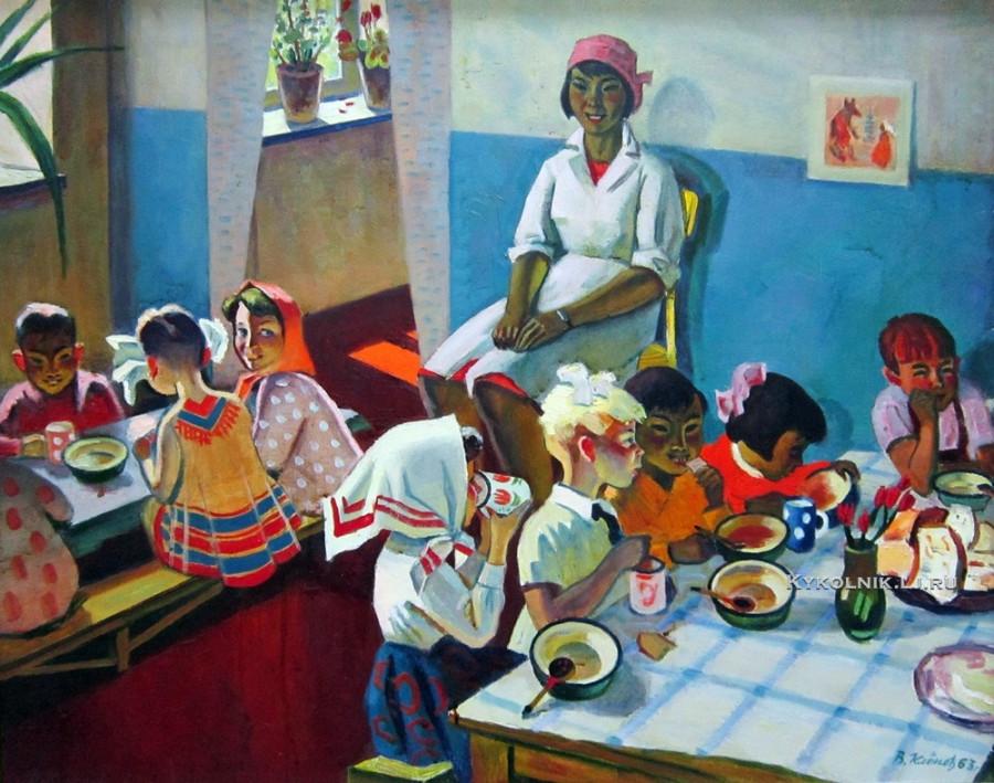 1963 Клёнов Владимир Михайлович (Россия, 1932) «Детский сад в Калмыкии»