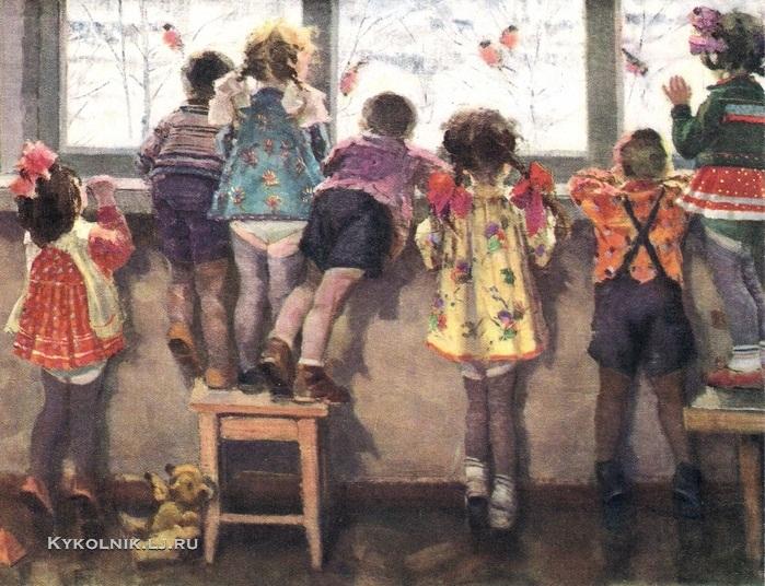 1964 Ульянов Николай Иванович (1922-1990) «Снегири. Детский сад»