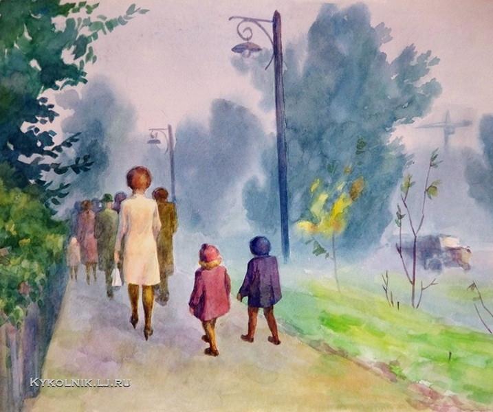 1967 Калабухов Николай Николаевич (1925-1987) «В детский сад»
