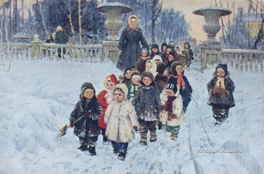 1970-е Ратников Алексей Михайлович (1926-1984) «Нагулялись»