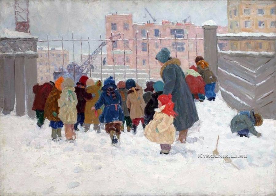1978 Воробьева Надежда Дмитриевна (1924-2010) «Детский сад на прогулке» (2)